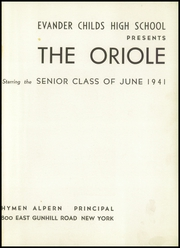 Page 5, 1941 Edition, Evander Childs High School - Oriole Yearbook (Bronx, NY) online yearbook collection
