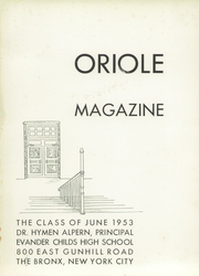 Page 5, 1953 Edition, Evander Childs High School - Oriole Yearbook (Bronx, NY) online yearbook collection