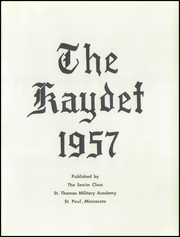 Page 5, 1957 Edition, St Thomas Military Academy - Kaydet Yearbook (Mendota Heights, MN) online yearbook collection