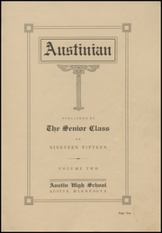 Page 5, 1915 Edition, Austin High School - Austinian Yearbook (Austin, MN) online yearbook collection