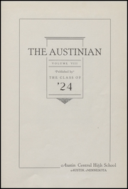 Page 15, 1924 Edition, Austin High School - Austinian Yearbook (Austin, MN) online yearbook collection