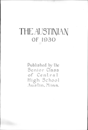 Page 5, 1930 Edition, Austin High School - Austinian Yearbook (Austin, MN) online yearbook collection