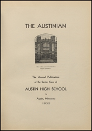 Page 5, 1932 Edition, Austin High School - Austinian Yearbook (Austin, MN) online yearbook collection