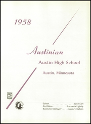 Page 5, 1958 Edition, Austin High School - Austinian Yearbook (Austin, MN) online yearbook collection