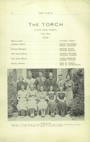 Page 4, 1938 Edition, Acton Boxborough Regional High School - Torch Yearbook (Acton, MA) online yearbook collection