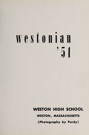 Page 5, 1951 Edition, Weston High School - Key Yearbook (Weston, MA) online yearbook collection