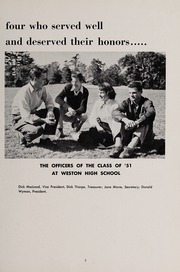 Page 9, 1951 Edition, Weston High School - Key Yearbook (Weston, MA) online yearbook collection