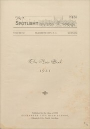 Page 7, 1931 Edition, Elizabeth City High School - Spotlight Yearbook (Elizabeth City, NC) online yearbook collection