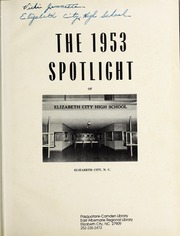 Page 5, 1953 Edition, Elizabeth City High School - Spotlight Yearbook (Elizabeth City, NC) online yearbook collection