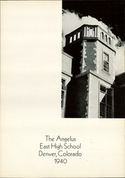 Page 7, 1940 Edition, East High School - Angelus Yearbook (Denver, CO) online yearbook collection