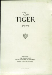 Page 5, 1929 Edition, Grand Junction High School - Tiger Yearbook (Grand Junction, CO) online yearbook collection