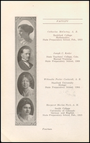 Page 16, 1917 Edition, Boulder High School - Odaroloc Yearbook (Boulder, CO) online yearbook collection