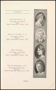 Page 17, 1917 Edition, Boulder High School - Odaroloc Yearbook (Boulder, CO) online yearbook collection