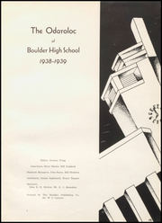 Page 7, 1939 Edition, Boulder High School - Odaroloc Yearbook (Boulder, CO) online yearbook collection