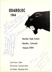 Page 5, 1964 Edition, Boulder High School - Odaroloc Yearbook (Boulder, CO) online yearbook collection