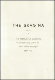 Page 9, 1946 Edition, Mount Vernon High School - Skagina Yearbook (Mount Vernon, WA) online yearbook collection