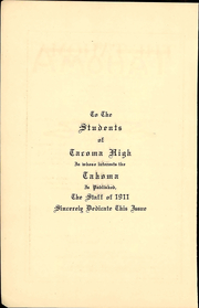 Page 6, 1911 Edition, Stadium High School - Tahoma Yearbook (Tacoma, WA) online yearbook collection