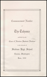 Page 7, 1919 Edition, Stadium High School - Tahoma Yearbook (Tacoma, WA) online yearbook collection