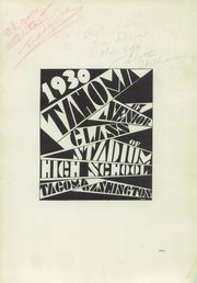 Page 7, 1930 Edition, Stadium High School - Tahoma Yearbook (Tacoma, WA) online yearbook collection