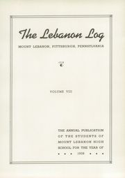 Page 7, 1938 Edition, Mount Lebanon High School - Lebanon Log Yearbook (Pittsburgh, PA) online yearbook collection