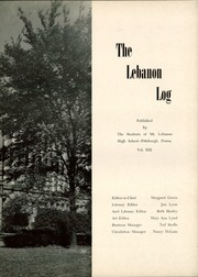 Page 7, 1951 Edition, Mount Lebanon High School - Lebanon Log Yearbook (Pittsburgh, PA) online yearbook collection