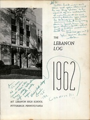 Page 5, 1962 Edition, Mount Lebanon High School - Lebanon Log Yearbook (Pittsburgh, PA) online yearbook collection