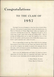 Page 14, 1957 Edition, Trinity High School - Olympus Yearbook (Washington, PA) online yearbook collection
