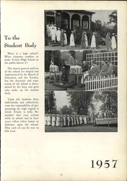 Page 17, 1957 Edition, Trinity High School - Olympus Yearbook (Washington, PA) online yearbook collection