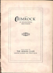Page 5, 1927 Edition, Hollidaysburg High School - Chimrock Yearbook (Hollidaysburg, PA) online yearbook collection