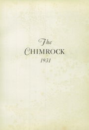 Page 5, 1931 Edition, Hollidaysburg High School - Chimrock Yearbook (Hollidaysburg, PA) online yearbook collection