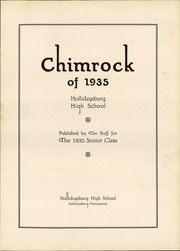 Page 5, 1935 Edition, Hollidaysburg High School - Chimrock Yearbook (Hollidaysburg, PA) online yearbook collection