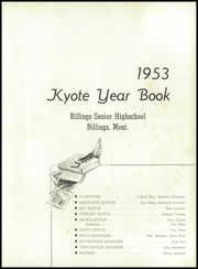 Page 7, 1953 Edition, Billings Senior High School - Kyote Yearbook (Billings, MT) online yearbook collection