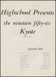 Page 9, 1956 Edition, Billings Senior High School - Kyote Yearbook (Billings, MT) online yearbook collection
