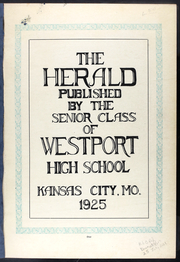 Page 5, 1925 Edition, Westport High School - Herald Yearbook (Kansas City, MO) online yearbook collection
