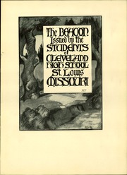 Page 7, 1927 Edition, Cleveland High School - Beacon Yearbook (St Louis, MO) online yearbook collection