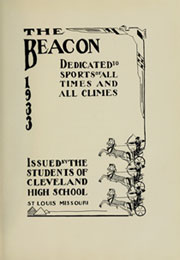 Page 11, 1933 Edition, Cleveland High School - Beacon Yearbook (St Louis, MO) online yearbook collection