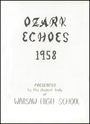 Page 5, 1958 Edition, Warsaw High School - Ozark Echoes Yearbook (Warsaw, MO) online yearbook collection