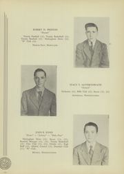 Page 17, 1944 Edition, West Nottingham Academy - Pege Yearbook (Colora, MD) online yearbook collection