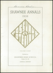 Page 5, 1938 Edition, Shawnee High School - Indian Yearbook (Louisville, KY) online yearbook collection
