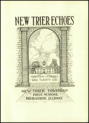 Page 7, 1926 Edition, New Trier Township High School - Echoes Yearbook (Winnetka, IL) online yearbook collection