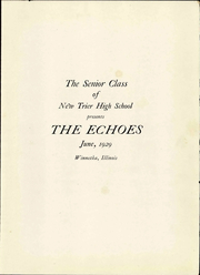 Page 9, 1929 Edition, New Trier Township High School - Echoes Yearbook (Winnetka, IL) online yearbook collection