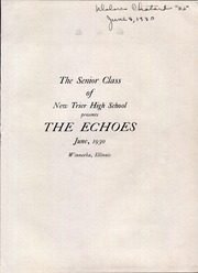 Page 5, 1930 Edition, New Trier Township High School - Echoes Yearbook (Winnetka, IL) online yearbook collection