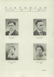 Page 7, 1920 Edition, Tipton High School - Tiptonian Yearbook (Tipton, IN) online yearbook collection
