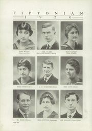 Page 8, 1920 Edition, Tipton High School - Tiptonian Yearbook (Tipton, IN) online yearbook collection