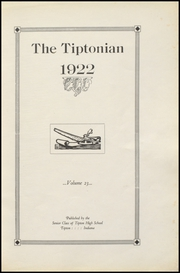 Page 7, 1922 Edition, Tipton High School - Tiptonian Yearbook (Tipton, IN) online yearbook collection