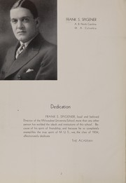 Page 6, 1934 Edition, University School of Milwaukee - Trident Yearbook (Milwaukee, WI) online yearbook collection
