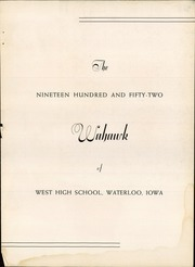 Page 7, 1952 Edition, Waterloo West High School - Wahawk Yearbook (Waterloo, IA) online yearbook collection