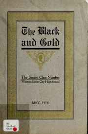 Page 1, 1916 Edition, RJ Reynolds High School - Black and Gold Yearbook (Winston Salem, NC) online yearbook collection
