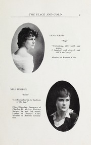 Page 11, 1916 Edition, RJ Reynolds High School - Black and Gold Yearbook (Winston Salem, NC) online yearbook collection