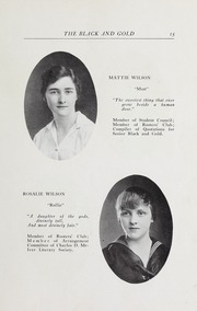 Page 17, 1916 Edition, RJ Reynolds High School - Black and Gold Yearbook (Winston Salem, NC) online yearbook collection
